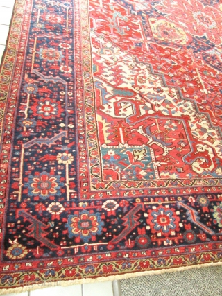 Antique Persian Heriz Rug.
