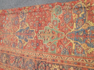 Decorative Antique Ziegler Mahal Rug.  size 12'7''x9'7''