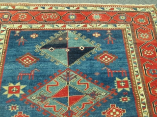 Outstanding Antique Caucasian Kazak.  size 5'3''x8'2''.