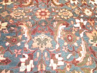 Antique Mahal Rug.  size 12'3''x15'8'' .circa 1890.