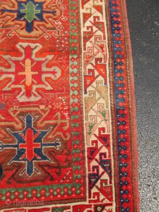 Antique Caucasian Kazak.  Size 4'4''x6'5'' good condition. low price.