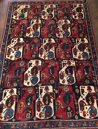 Late 19th century SW Persian khamseh good condition and very nice colors and design.