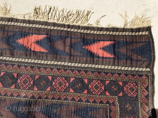 Late 19 century Baluch Kilim very fine and great colors.