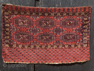 Mid 19th century Tekke chuval beautiful colors and good condition with silk highlight very good  shiny  Silky wool.