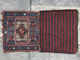 Pair of late 19th century soumak bag very good condition and good colors.