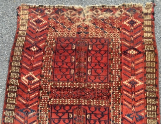 Tekke ensi. Ex- Craycraft. apx 48 x 61 inches, 122 x 155 cm.   Condition as shown