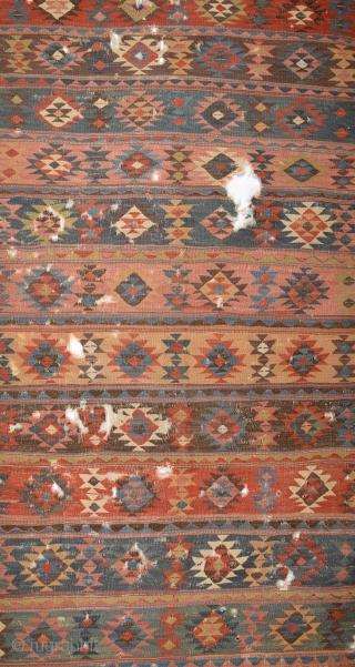Colorful Shahsevan Kilim circa 1800 size 154x330 cm