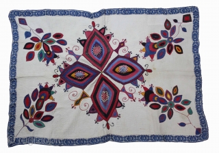 Vintage Kantha embroidery with cotton thread Kantha Probably From East Bengal(Bangladesh)Region India.Its size is 82cm x 120cm.(DSC01620).