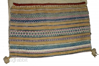 Donkey Trapping Bag From Kutch Gujarat,India.C.1900.Used for Carrying the Salt in White Rann Of Kutch.Its size is 66cm x 102cm.(DSL03610).