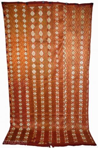Phulkari from West(Pakistan)Punjab India Called As Rare Design Bagh.(DSL01810).
