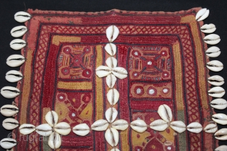 Banjara Gala From Karnataka,South India.C.1900.Embroidered on cotton.Gala is Traditionally Used by Women to Carry Pots on their Heads.Its size is 24cm x 29cm.(DSL03700).
