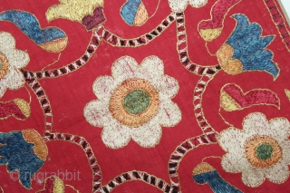 Chamba Rumal from Himachal Pradesh India.C.1900.Cotton Silk Embroidered.Its size is 24cm x 24cm.(DSL03760).