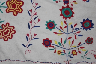 Vintage Kantha Quilted embroidery with cotton thread Kantha Probably From East Bengal(Bangladesh)Region India.Its size is 123cm x 178cm.(DSL01950)