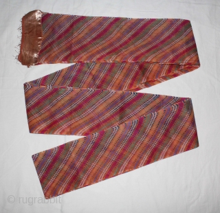 """Mothara Pagh (Turban) Fine Cotton Mull-Mull Early 20""""Century.Royals family Rajasthan India.Length 15 to 18 miter.(DSC01440New)."""