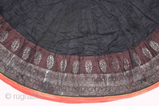 """Mull-Mull cotton Ghaghra (Skirt) Silver Paste from Rajasthan India Early 20""""Century.(DSC01520)."""