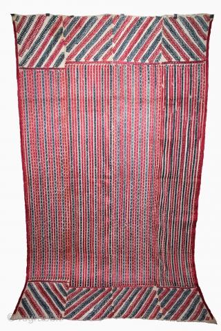 Phulkari From West(Pakistan)Punjab India Called As Wedding Thirma Bagh.Rare Design.Extremely Fine Phulkari.(DSL03360).