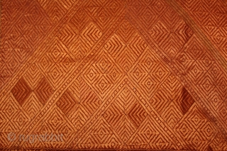 Phulkari From West (Pakistan)Punjab India Called As Vari-Da-Bagh.Rare Design Ghunghat.Floss Silk on Hand Spun Cotton khaddar.This bagh was gifted to the bride by her in-laws when she was entering their house, her  ...