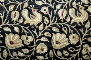 Parsi Embroidered Jhabla From Surat Gujarat India.C.1900.Its size is 44cmX54cm.(DSL04110).