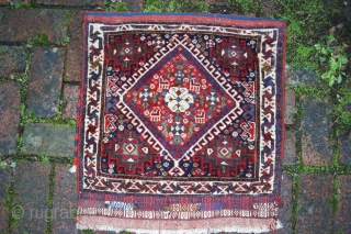 Antique south Persian bag, vibrant colours, no tip-fading or colour-run