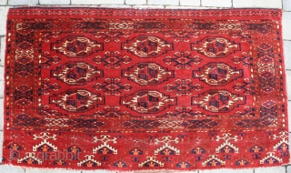 Pair of late 19th century Ersari chuvals. Stunning colours, generally full pile, some old repairs to edges and slits need attention.52in by 30in
