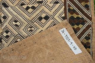 Interesting Shoowa raffia velvet 68cm by 62cm