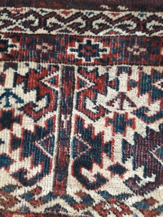 Small Yomud torba in great condition, no hot colours. Some minor old repairs, barely visible.  29in by 15in