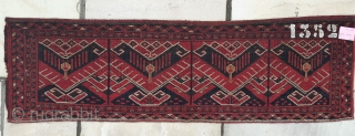 Beshir/Ersari torba. Good colours, great condition, striking design.