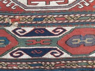 Mid 19th century Caucasian mafrash panel, in original condition 44in by 16in