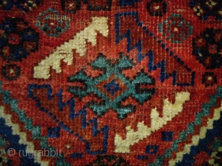 Kashkuli/Qasqhay Bag Complete Size: 64x68cm (2.1x2.3ft) Natural colors, made in circa 1910