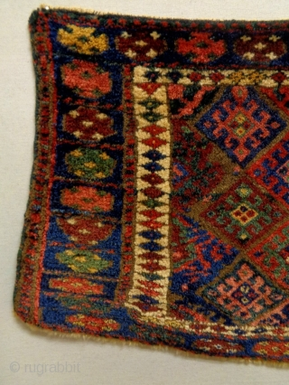 Full pile nomad yoruk Jaf Size: 106x54cm Natural colors, made in circa 1910