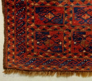 Interesting Kyrgyz Dowry Size: 68x61cm Natural colors (except the orange color is faded), circa 80 years old