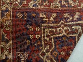 Kamseh/Qasqhay Bagface Size: 63x67cm Natural colors, made in circa 1910/20