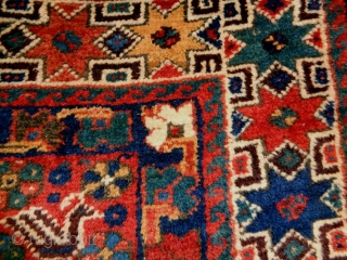 Kashkuli/Qasqhay Size: 150x196cm (5.0x6.5ft) Natural colors, wool on wool, made in circa 1910/20