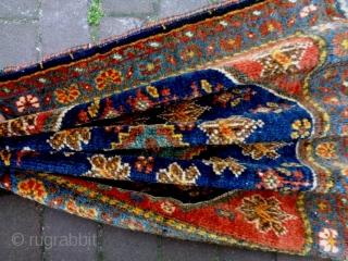 Shiraz Bagface Size: 53x49cm (1.8x1.6ft) Natural colors, made in circa 1910/20