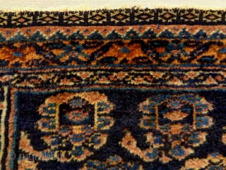 Afshar Bagface Size: 49x35cm circa 90 years old