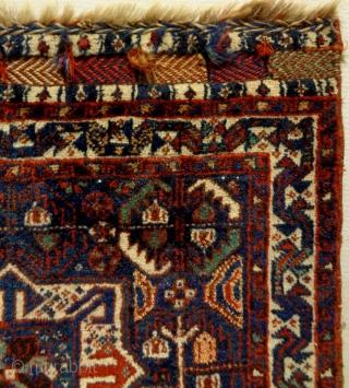 Fine Kamseh Bagface Size: 64x68cm Natural colors, made in circa 1910/20