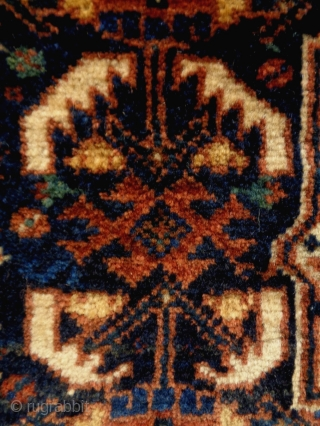 Kamseh Bagface Size: 65x53cm (2.2x1.8ft) natural colors, there is silk, made in circa 1910/20