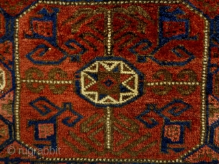 Baluch Bagface Size: 78x78cm (2.6x2.6ft) Natural colors, made in circa 1910