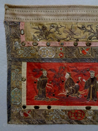 19th Century Chinese Textile Size: 100x49cm (3.3x1.6ft) Natural colors