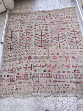 Shahsavan verneh pre-1850.not washed.but in a good condition.Size:175 x 155 cm