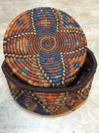 A round basket from Sw persia.not washed or any repaired.Size:20x20 cm