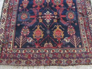 Bakhtiari armanian kelleh from Sirak village,Size:380x170 cm,needs 3 or 4 rajs reweaveing in below head only,good pile,wool on wool