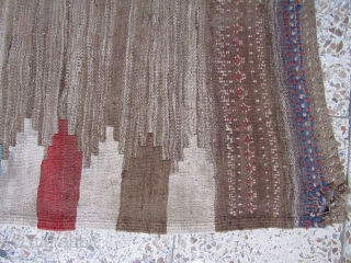 Sofreh of Kamu,wool on wool foundation,not washed,some small repaires is needed.Size:98x100 cm
