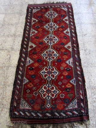 Khamseh rug in perfect condition,not washed,Size:215 x 95 cm