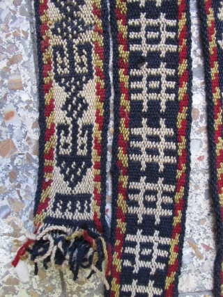 ghashgaie very old band in fine condition,no cotton were used ,Size:600x6 cm.originally without wood