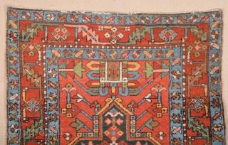 Late 19th Century Persian Karajah Rug size 106x135 cm