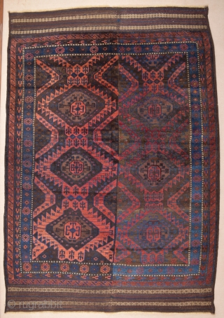 Late 19th Century Two Halves Timuri Baluch Main Carpet size 185x270 cm