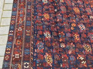 Antique Persian Shiraz or Afshar? Carpet size 244x425 cm