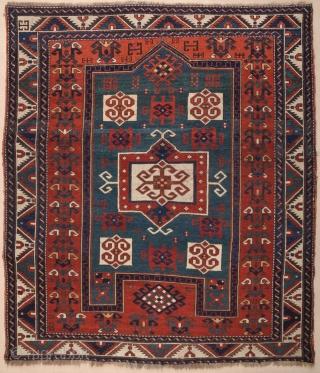 Caucasian Fachrola Prayer Rug circa 1870 size 155x179 cm