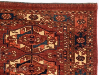 Mid 19th Century Turkmen Tekke Six Gul Torba in good condition and very fine quality size 44x117 cm